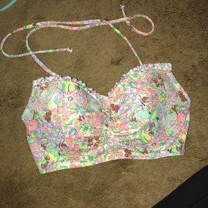 32C floral bathing suit top Victoria's Secret